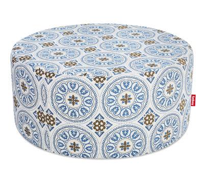 Furniture - Poufs & Floor Cushions - PFFFH Pouf - Outdoor / Ø 90 cm by Fatboy - Blue - Foam, Polystyrene, Sunbrella fabric
