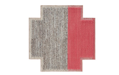 Decoration - Rugs - Mangas Space Plait Rug - / 160 x 160 cm by Gan - Coral - Virgin wool