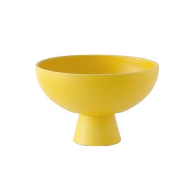Tischkultur - Salatschüsseln und Schalen - Strøm Medium Schale / Ø 19 cm - Céramique / Fait main - raawii - Jaune Freesia - Keramik