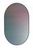 Specchio murale Ovale - / Vetro riflettente stampato - H 84 cm di Fritz Hansen