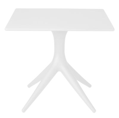Outdoor - Garden Tables - App Square table - 80 x 80 cm by Driade - White - roto-moulded polyhene