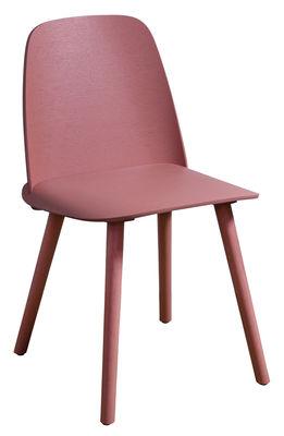 Möbel - Stühle  - Nerd Stuhl / Limited Edition 20 Jahre MID - Muuto - Pantone rosa 7591 - Esche