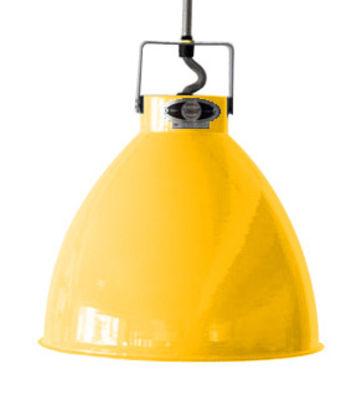 Suspension Augustin Medium Ø 24 cm - Jieldé moutarde brillant en métal