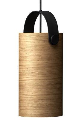 Luminaire - Suspensions - Suspension OoTW Large / Ø 16 x H 31 cm - Bois & métal - Rewired - Chêne / Noir - Métal verni, Placage de chêne