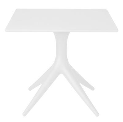 Jardin - Tables de jardin - Table App / 80 x 80 cm - Driade - Blanc - Polyéthylène rotomoulé