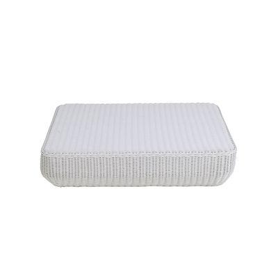 Table basse Agorà / Polyéthylène tressé main - 100 x 100 cm - Unopiu blanc en matière plastique/fibre végétale