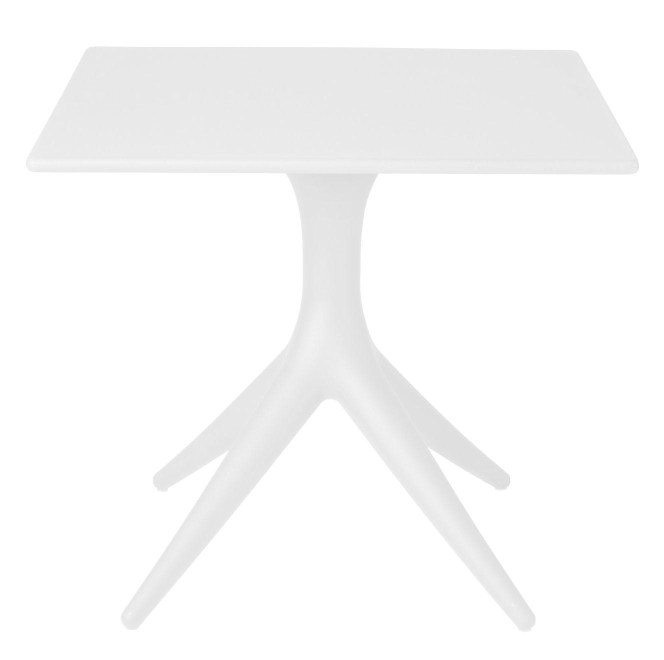 Outdoor - Tables de jardin - Table carrée App / 80 x 80 cm - Driade - Blanc - Polyéthylène rotomoulé