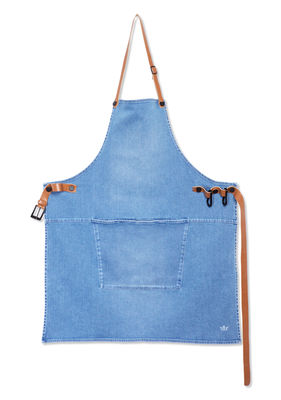 Tablier Barbecue / Denim - Dutchdeluxes indigo en tissu