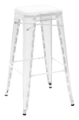 Tabouret de bar H Perforé / H 75 cm - Couleur brillante - Tolix blanc brillant en métal