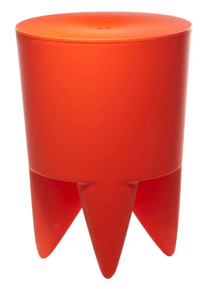 Mobilier - Mobilier Ados - Tabouret New Bubu 1er / Coffre - Plastique - XO - Orange Delhi - Polypropylène