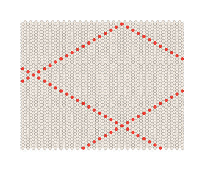 Mobilier - Tapis - Tapis S&B Dot 100 x 80 cm - Hay - Rouge / Beige - Laine
