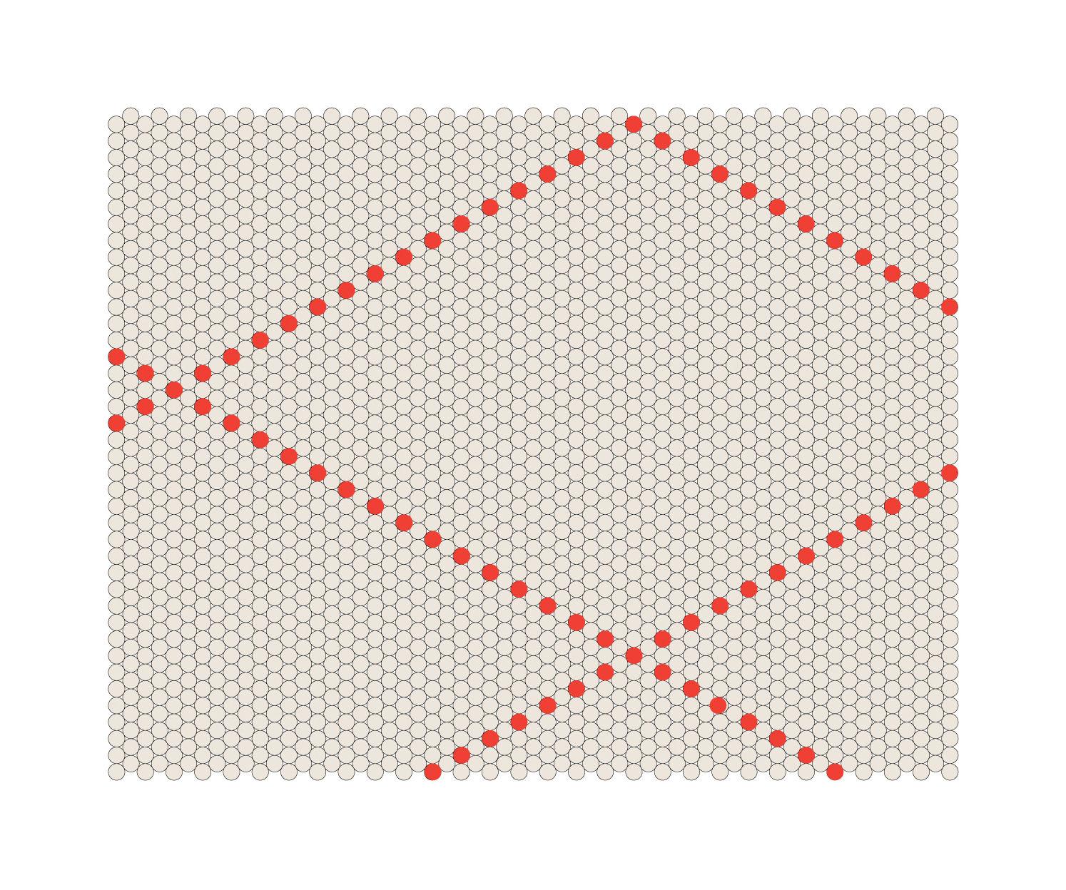Möbel - Teppiche - S&B Dot Teppich 100 x 80 cm - Hay - Rot / Beige - Wolle