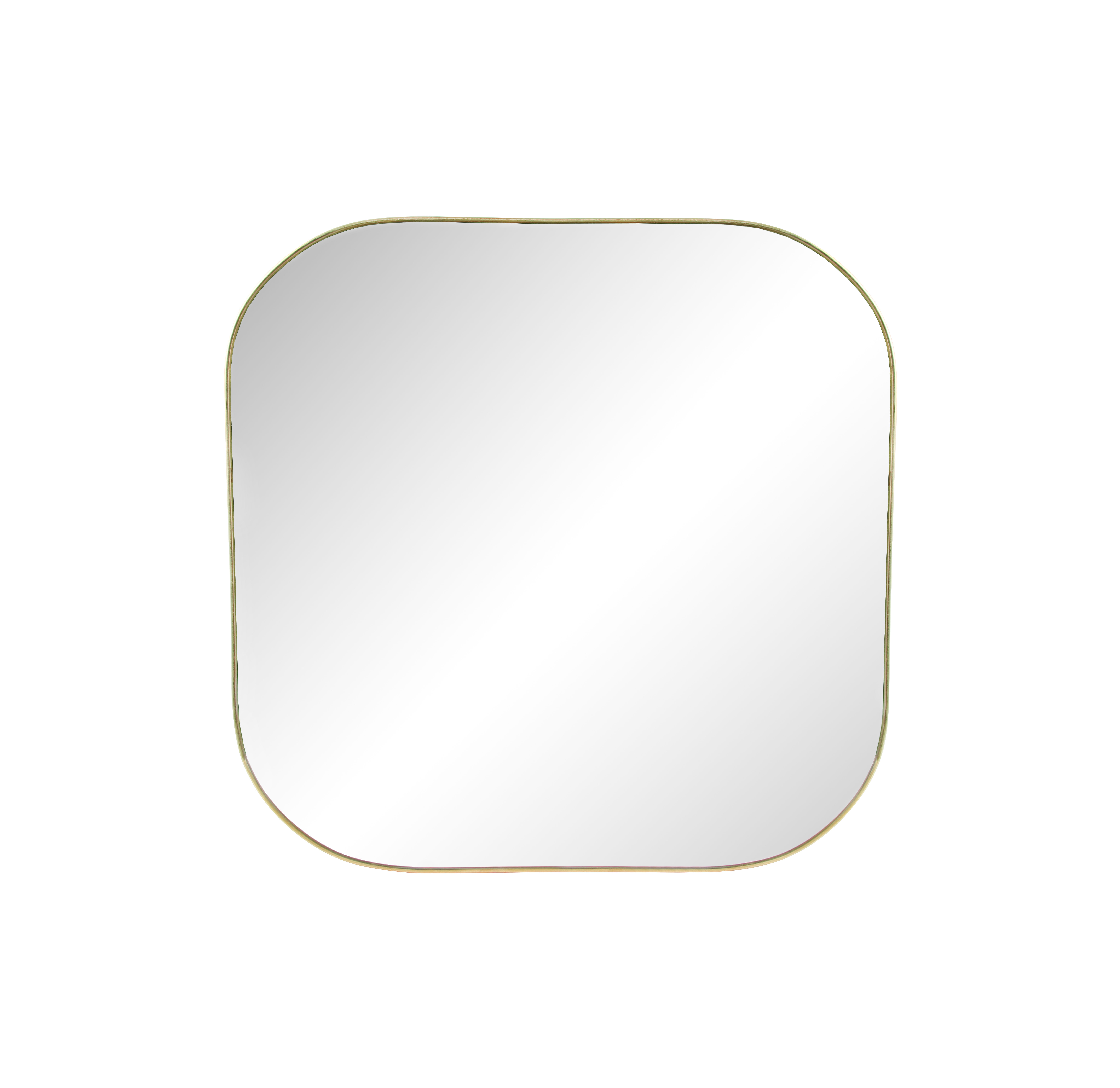 Decoration - Mirrors - Gold Square Wall mirror - / 30 x 30 cm by & klevering - Square / Brass - Glass, Metal