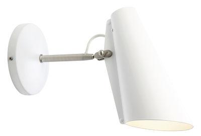 Leuchten - Wandleuchten - Birdy Wandleuchte mit Stromkabel / L 31 cm - Neuauflage des Originals von 1952 - Northern  - Weiß / Arm Stahl - Acier finition nickel, bemaltes Aluminium