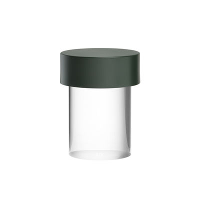 Lighting - Table Lamps - Last Order Wireless lamp - / OUTDOOR - Ø 10 x H 14 cm by Flos - Smooth / Green & transparent - Glass, Metal