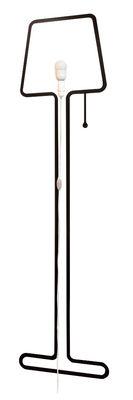Applique avec prise Tall Lampe / Set sticker + kit électrique - Pa Design noir en matière plastique