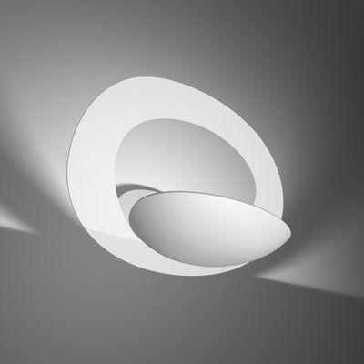 Luminaire - Appliques - Applique Pirce / L 37 cm - Artemide - Blanc - Aluminium verni