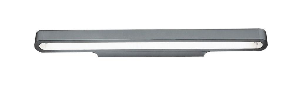 Illuminazione - Lampade da parete - Applique Talo - versione fluorescente di Artemide - L 120 cm - Grigio argento - alluminio verniciato