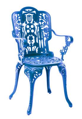 Furniture - Chairs - Industry Garden Armchair - / Sky blue by Seletti - Sky blue - Aluminium