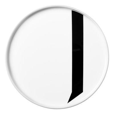 Assiette A-Z / Porcelaine - Lettre J - Ø 20 cm - Design Letters blanc en céramique