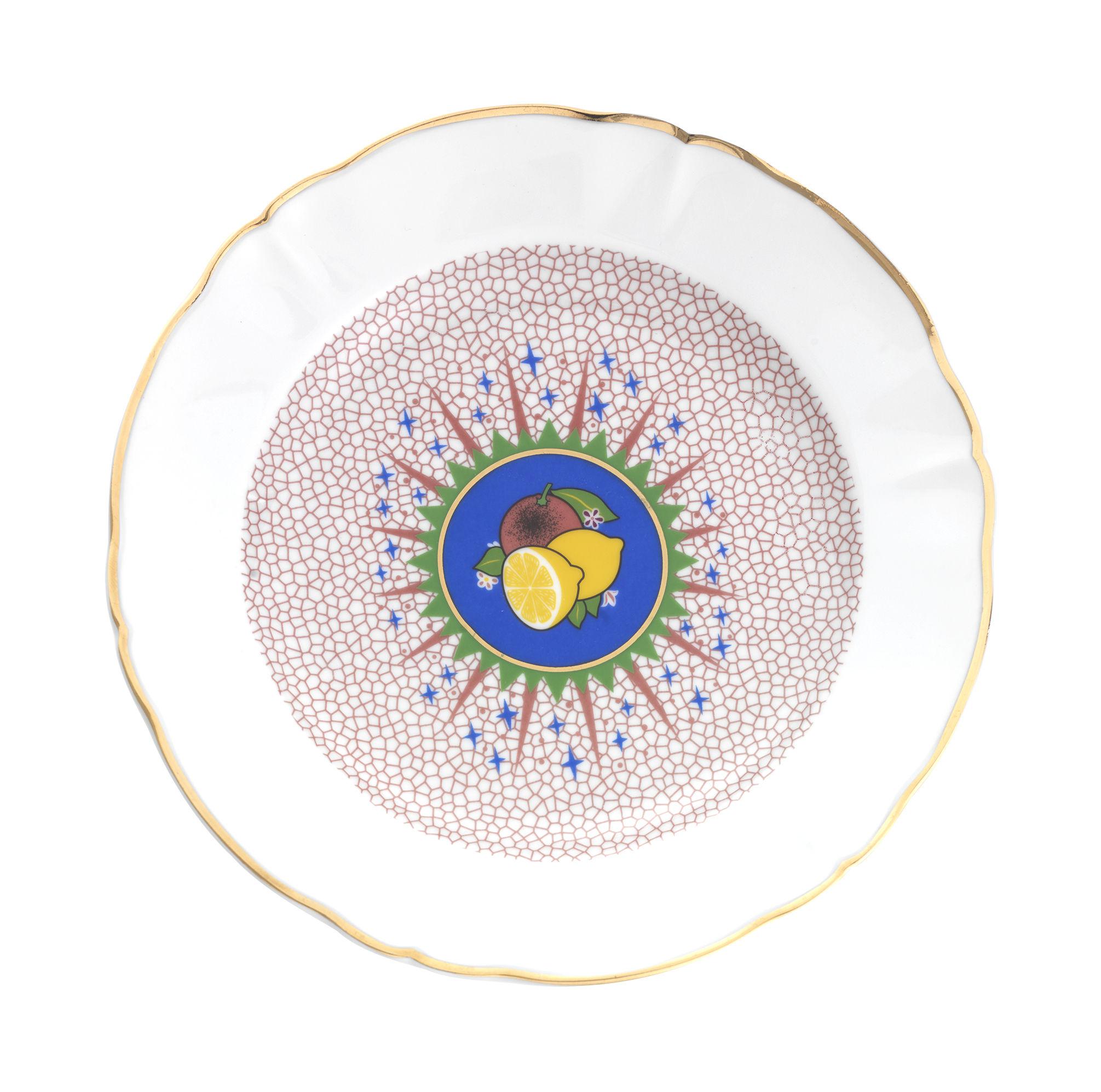 Arts de la table - Assiettes - Assiette Bel Paese - Limone / Ø 20,5 cm - Bitossi Home - Citron - Porcelaine