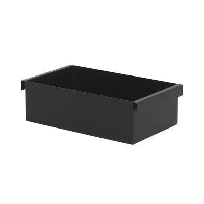 Déco - Pots et plantes - Bac / Pour jardinière Plant Box - Prof. 25 cm - Ferm Living - Noir - Acier laqué époxy