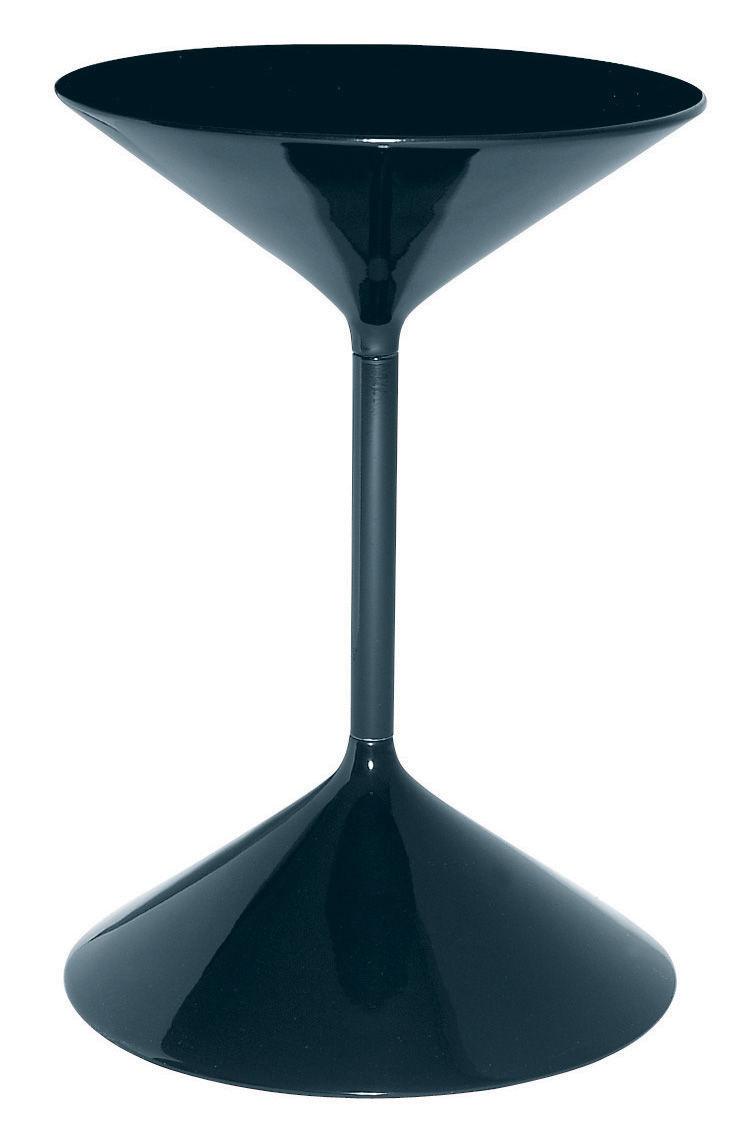 Möbel - Couchtische - Tempo Beistelltisch - Zanotta - Schwarz lackiert - H 50 cm - gefirnister Stahl, Polyurhethan