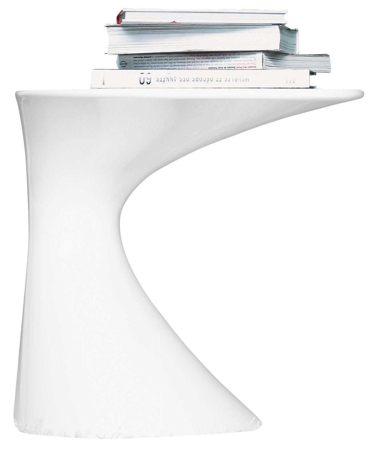 Möbel - Couchtische - Tod Beistelltisch - Zanotta - Weiß lackiert - lackiertes Polypropylen
