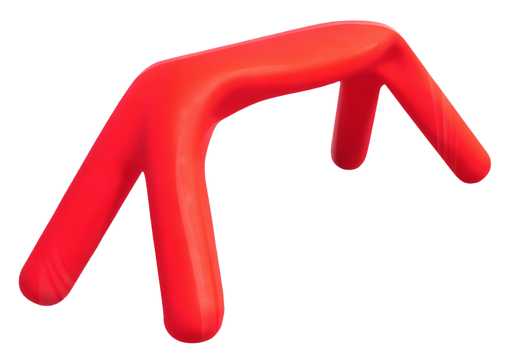 Furniture - Benches - Atlas Bench - Lacquered version by Slide - Lacquered red - Lacquered polythene