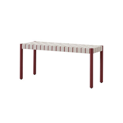 Furniture - Benches - Betty TK4 Bench - / L 105 cm - Linen straps by &tradition - Red / Natural linen - Linen, Solid oak