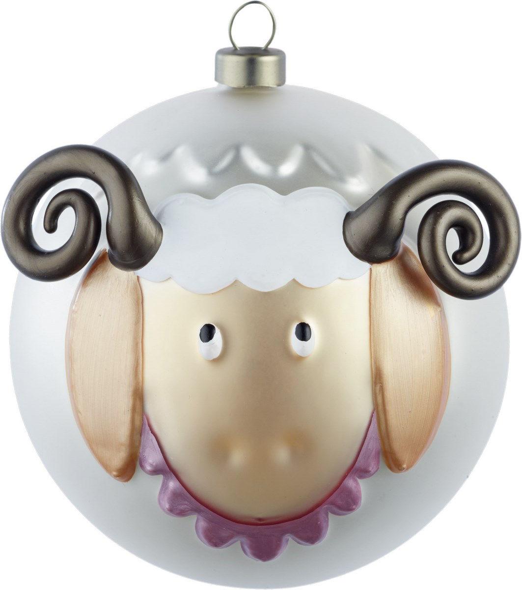 Déco - Objets déco et cadres-photos - Boule de Noël Pecorello / Mouton - A di Alessi - Mouton / Multicolore - Verre soufflé