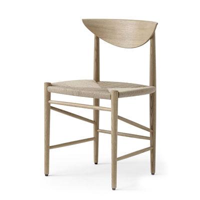 Mobilier - Chaises, fauteuils de salle à manger - Chaise Drawn HM3 / (1956) - &tradition - Chêne - Chêne blanchi huilé, Corde de papier