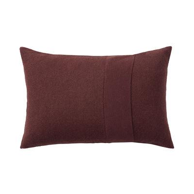 Déco - Coussins - Coussin Layer / Laine baby lama tricotée main - 60 x 40 cm - Muuto - Bordeaux -  Plumes, Coton, Laine baby lama