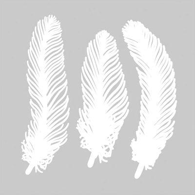 Décoration de fenêtre Mino Plume n°1 / Set de 3 - Papier - Pa Design blanc en papier