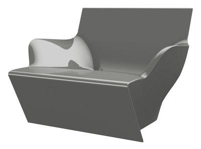 Chaise Kami San version laquée - Slide laqué gris en matière plastique