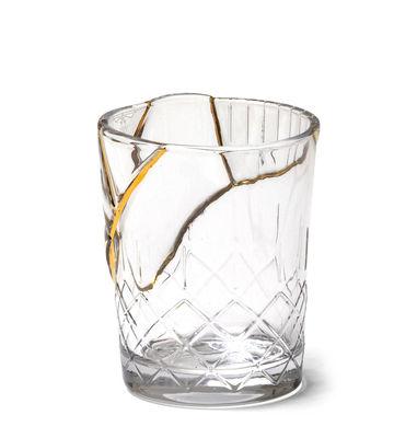 Tableware - Wine Glasses & Glassware - Kintsugi n°1 Glass - / Glass & fine gold by Seletti - no. 1 / Transparent & gold - Fine gold, Glass