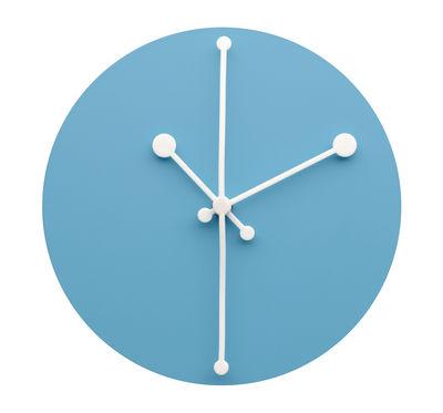 Horloge murale Dotty Clock / Ø 20 cm - Alessi blanc,turquoise en métal