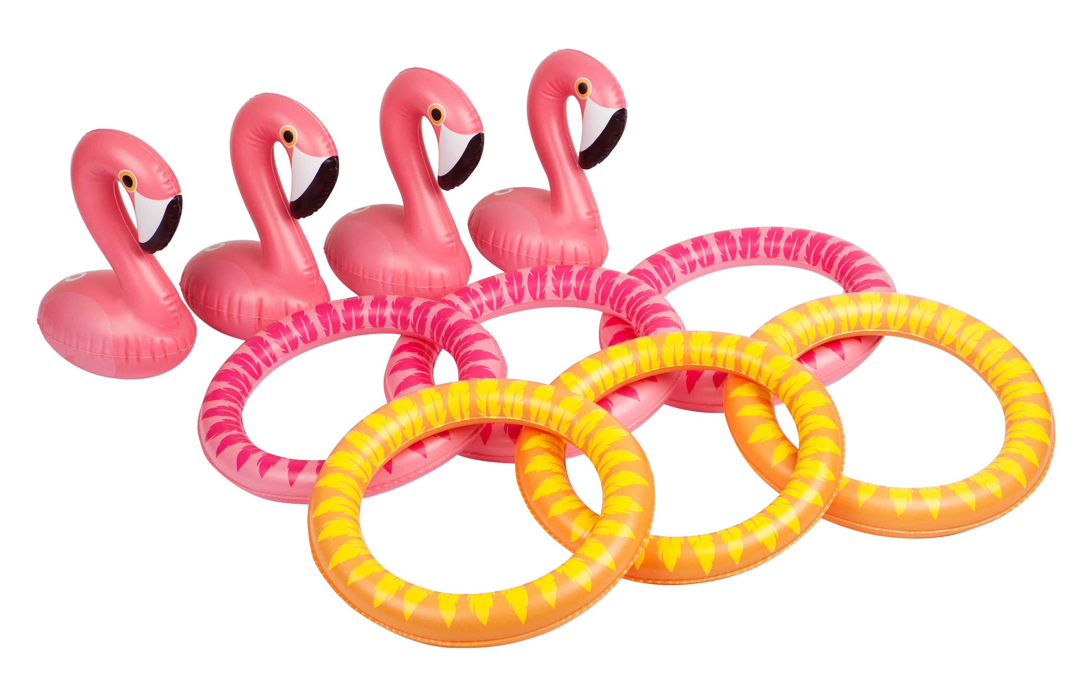 Déco - Pour les enfants - Jeu d'adresse / Flamant rose - Gonflable - Sunnylife - Flamant rose - PVC haute résistance