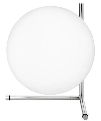 Illuminazione - Lampade da tavolo - Lampada da tavolo IC T2 - / H 35 cm di Flos - Cromato - Acciaio cromato, vetro soffiato
