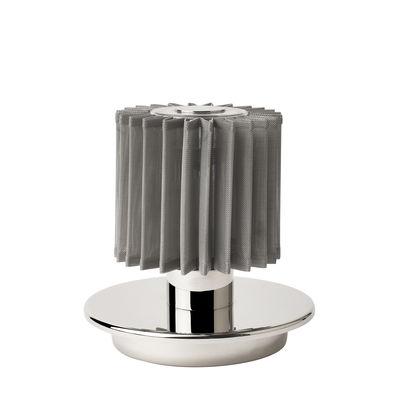Leuchten - Tischleuchten - In The Sun Table Lampe ohne Kabel / LED - Aufladbar über USB - DCW éditions - Silber - Aluminium, Glas, Stahl