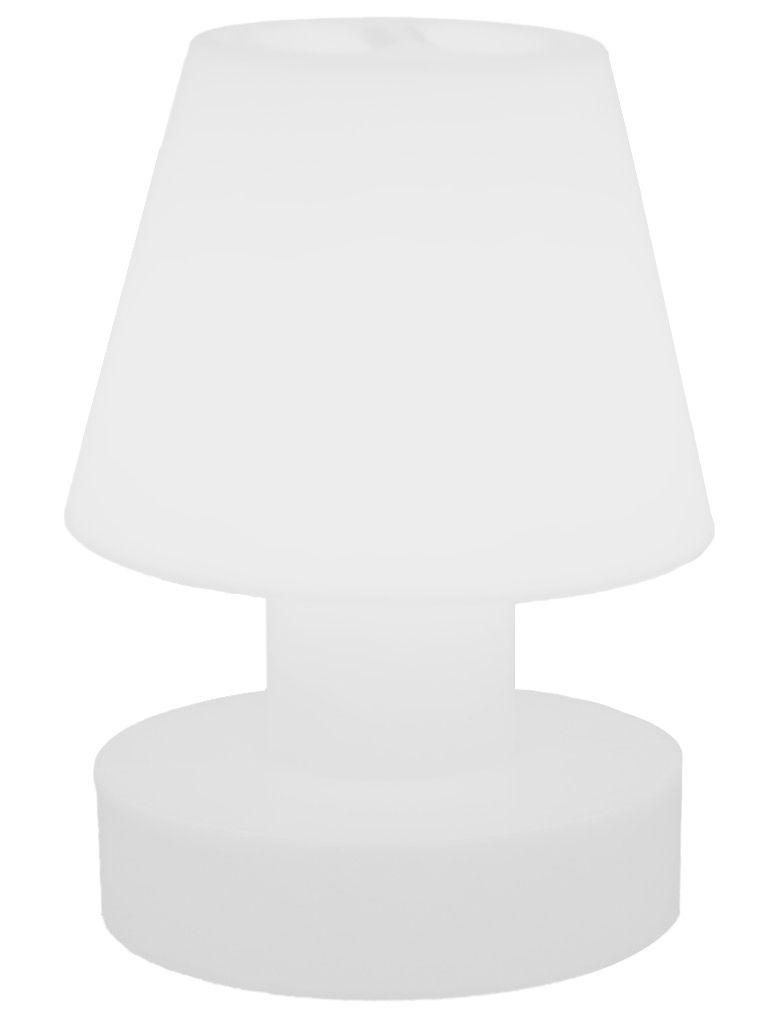 Leuchten - Tischleuchten - Lampe ohne Kabel tragbar, kabellos, Akku - H 28 cm - Bloom! - Weiß - Polyäthylen