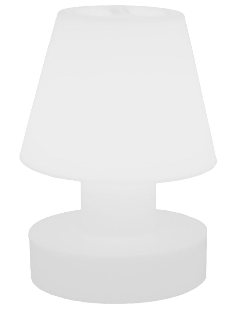Luminaire - Lampes de table - Lampe sans fil / Rechargeable - H 28 cm - Bloom! - Blanc - Polyéthylène