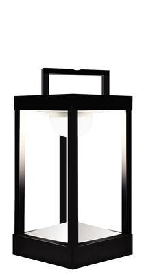 Luminaire - Lampes de table - Lampe solaire La Lampe Parc S LED / Hybride & connectée - H 30 cm - Maiori - Charbon - Aluminium, Verre