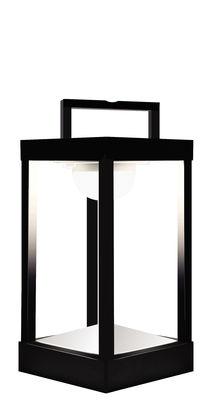 Lampe solaire La Lampe Parc S LED / Hybride & connectée - H 30 cm - Maiori noir en métal/verre