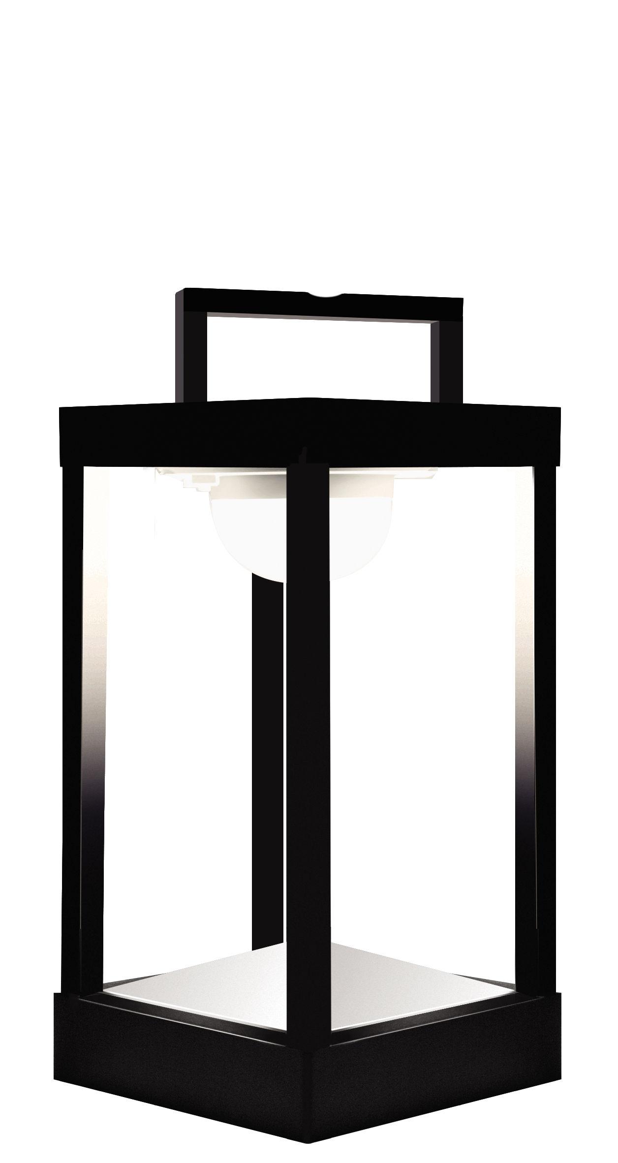 Luminaire - Lampes de table - Lampe solaire La Lampe Parc S LED / Sans fil - Dock USB - H 30 cm - Maiori - Noir - Aluminium, Verre