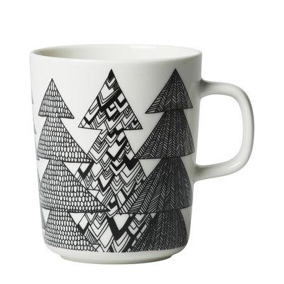 Tableware - Coffee Mugs & Tea Cups - Kuusikossa Mug - / 25 cl by Marimekko - Kuusikossa / Black & white - Sandstone