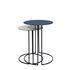 Tokyo Nested tables - / Ø 40 & Ø 34 cm - Steel by Maison Sarah Lavoine