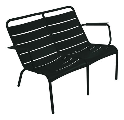 Life Style - Panca con schienale Luxembourg Duo - 2 posti di Fermob - Liquerizia - Alluminio