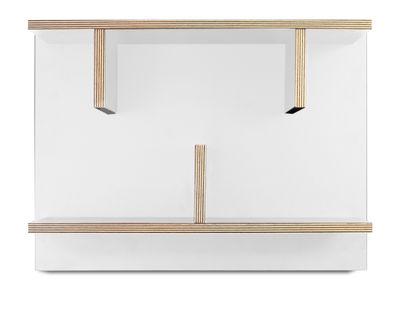 Möbel - Regale und Bücherregale - Rack Regal / L 60 x H 45 cm - POP UP HOME - Weiß / Seitenränder: holzfarben - Melamin