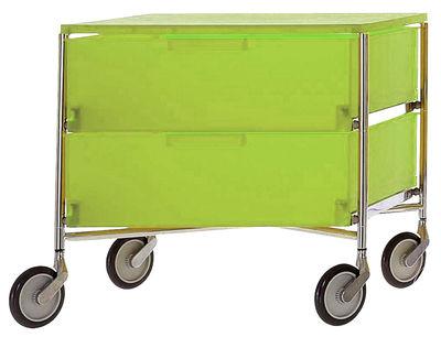 Mobil Rollcontainer mit 2 Schubladen - Kartell - Grün